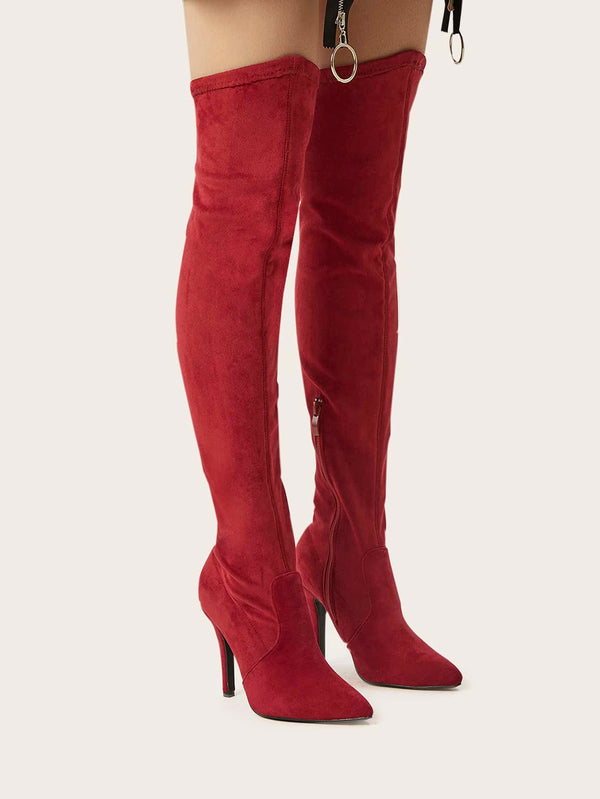 Point Toe Stiletto Heeled Boots - 𝐄𝐑𝐔𝐌𝐉𝐔𝐒