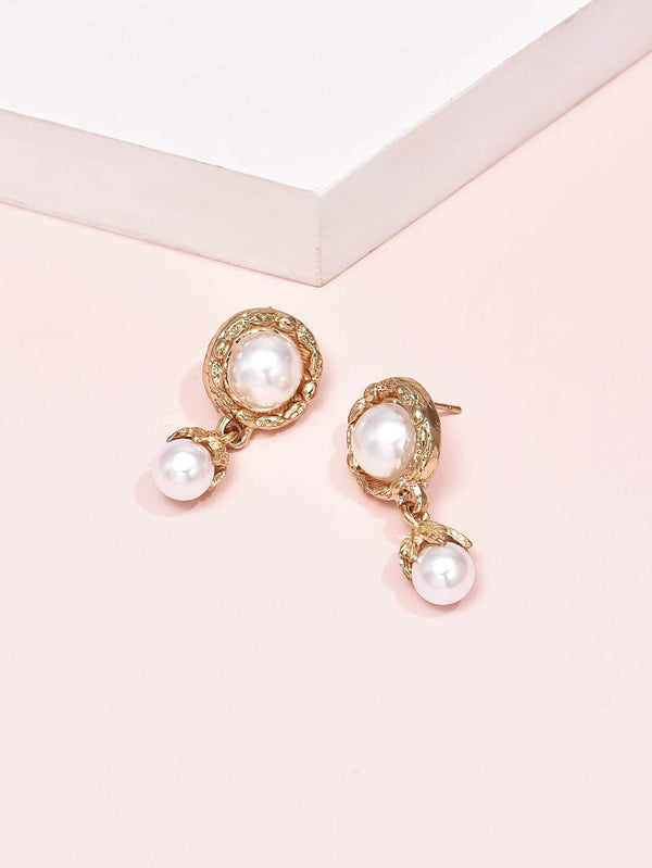 Faux Pearl Drop Earrings - 𝐄𝐑𝐔𝐌𝐉𝐔𝐒