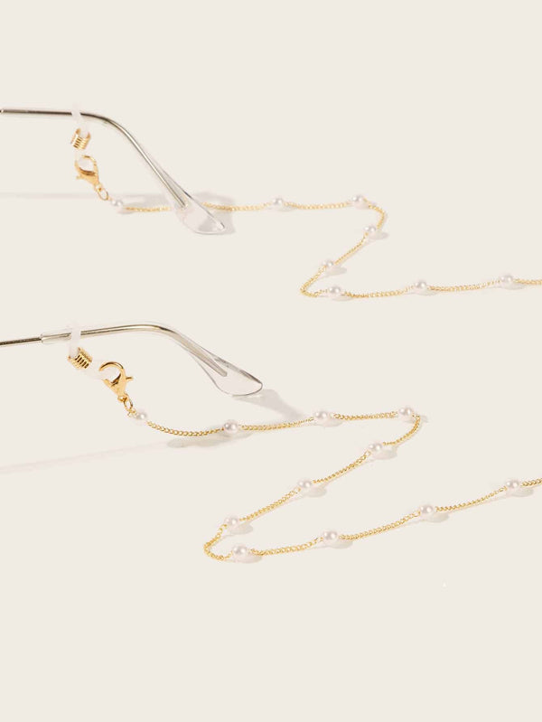 Faux Pearl Rosary Glasses Chain - 𝐄𝐑𝐔𝐌𝐉𝐔𝐒