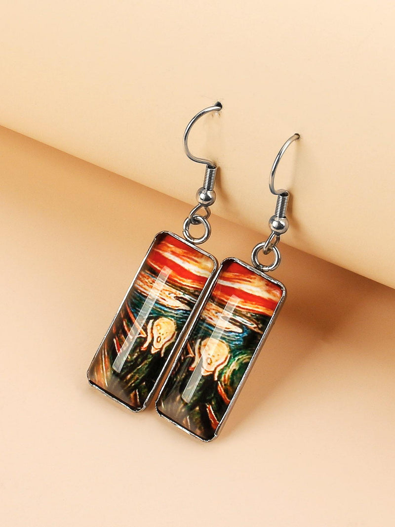 Geo Drop Earrings - 𝐄𝐑𝐔𝐌𝐉𝐔𝐒