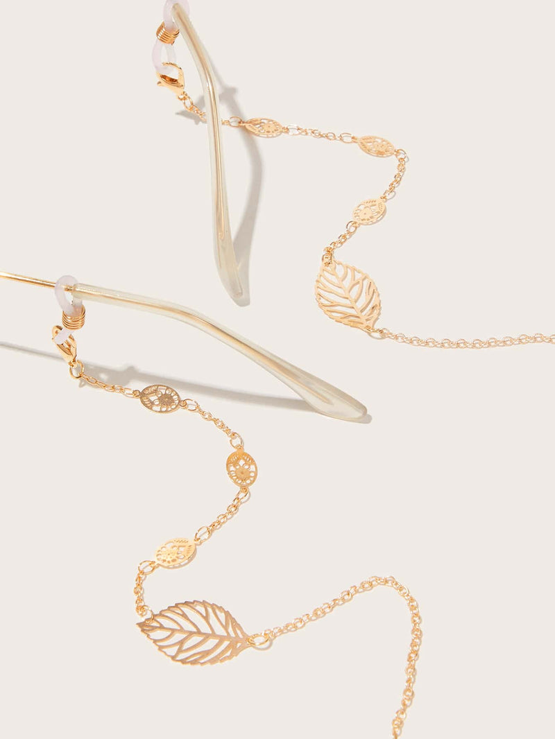 Hollow Out Leaf Glasses Chain - 𝐄𝐑𝐔𝐌𝐉𝐔𝐒