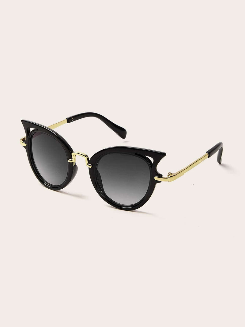 Kids Metal Detail Round Lens Sunglasses - 𝐄𝐑𝐔𝐌𝐉𝐔𝐒
