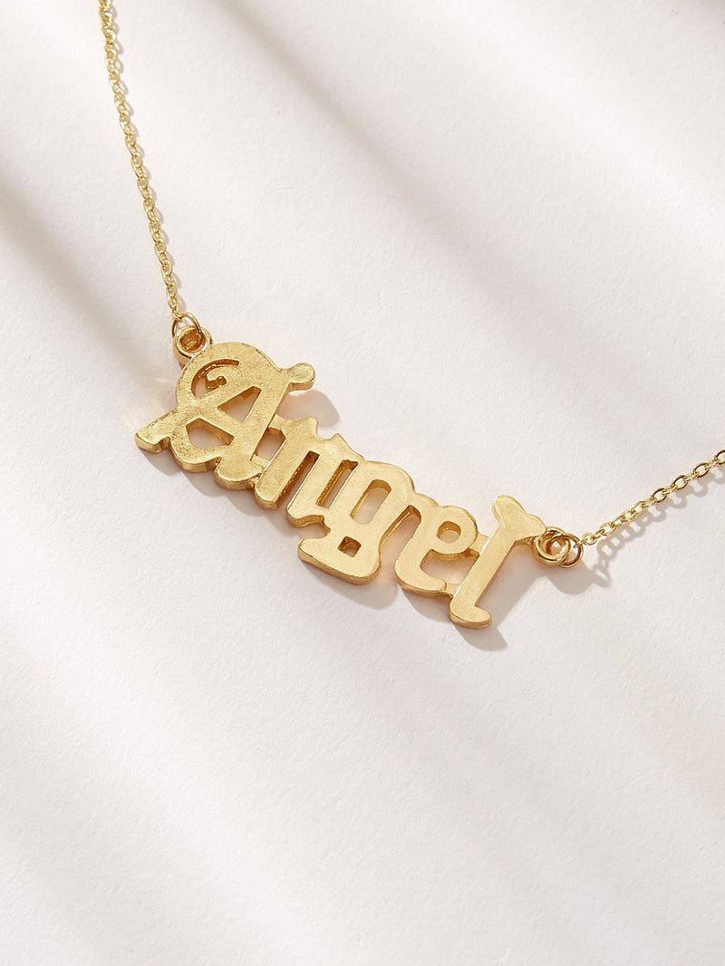 Letter Pendant Chain Necklace - 𝐄𝐑𝐔𝐌𝐉𝐔𝐒