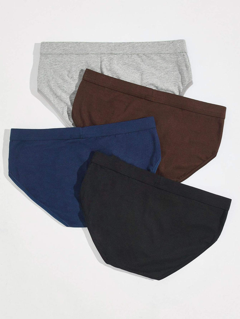 Men 4pcs Solid Brief - 𝐄𝐑𝐔𝐌𝐉𝐔𝐒