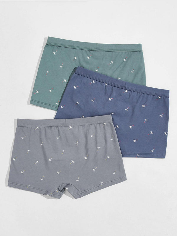Men Dandelion Print Boxer Brief - 𝐄𝐑𝐔𝐌𝐉𝐔𝐒