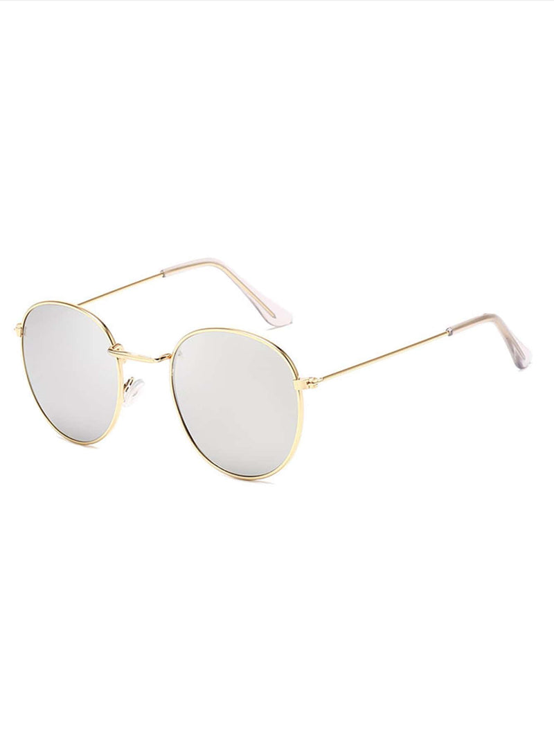 Metal Frame Mirror Lens Sunglasses - 𝐄𝐑𝐔𝐌𝐉𝐔𝐒