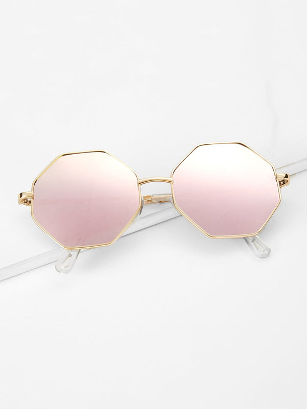 Metal Frame Polygon Sunglasses - 𝐄𝐑𝐔𝐌𝐉𝐔𝐒