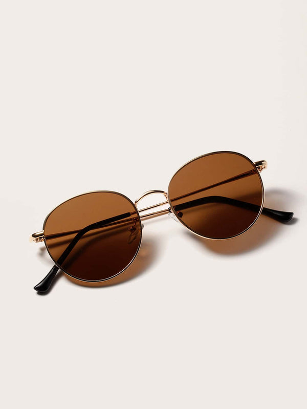 Metal Frame Sunglasses With Case - 𝐄𝐑𝐔𝐌𝐉𝐔𝐒