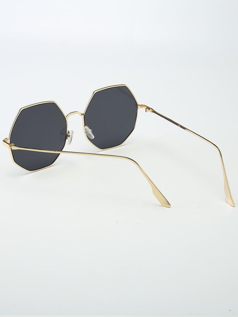 Metal Octagon Frame Sunglasses - 𝐄𝐑𝐔𝐌𝐉𝐔𝐒