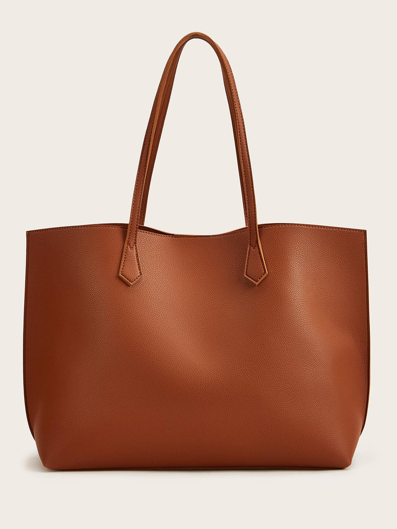 Minimalist Tote Bag With Purse - 𝐄𝐑𝐔𝐌𝐉𝐔𝐒
