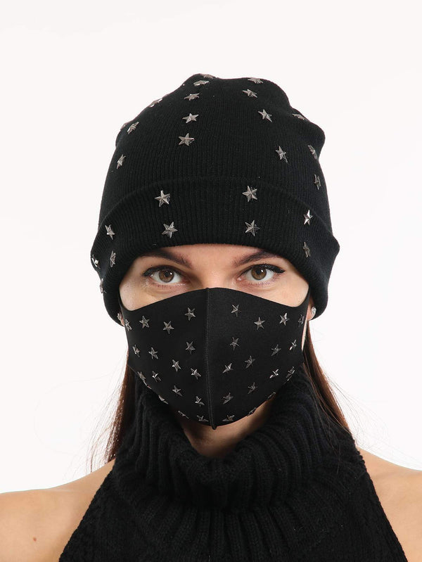 2pcs Star Decor Face Mask & Beanie - 𝐄𝐑𝐔𝐌𝐉𝐔𝐒