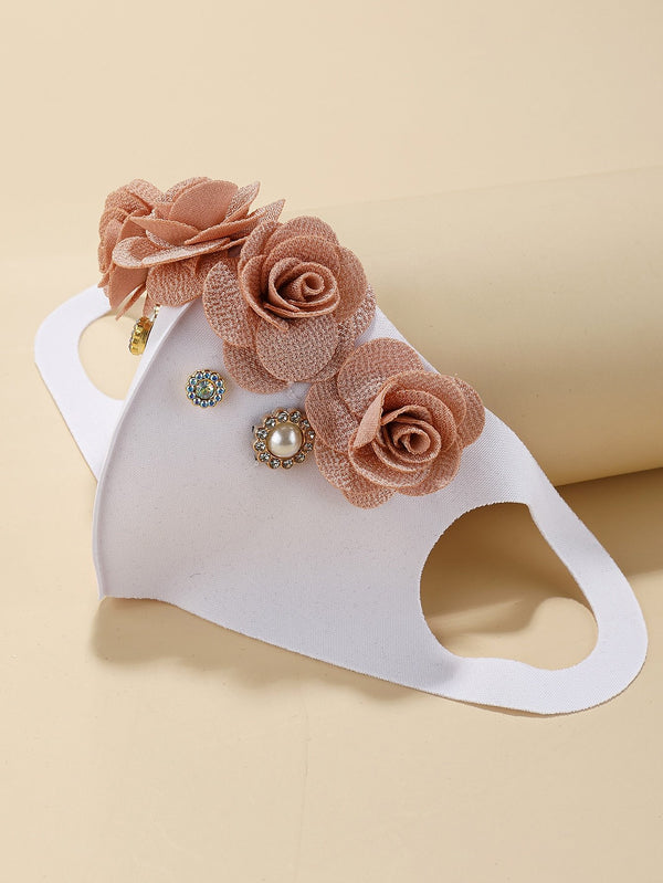 Flower Decor Face Mask - 𝐄𝐑𝐔𝐌𝐉𝐔𝐒