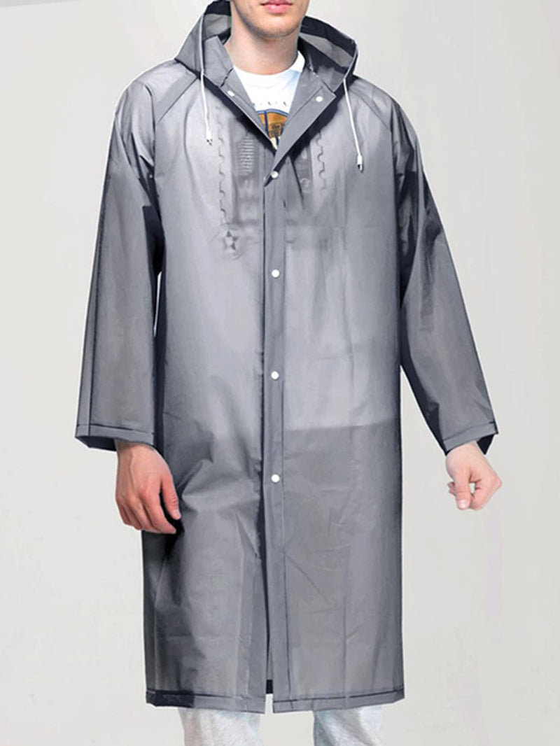 Plain Hooded Raincoat - 𝐄𝐑𝐔𝐌𝐉𝐔𝐒