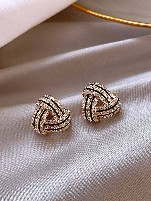 Rhinestone Decor Stud Earrings - 𝐄𝐑𝐔𝐌𝐉𝐔𝐒