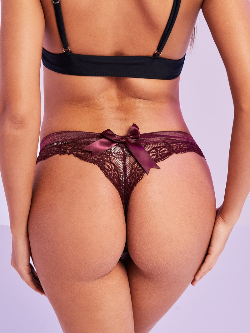 Floral Lace Bow Panty - 𝐄𝐑𝐔𝐌𝐉𝐔𝐒