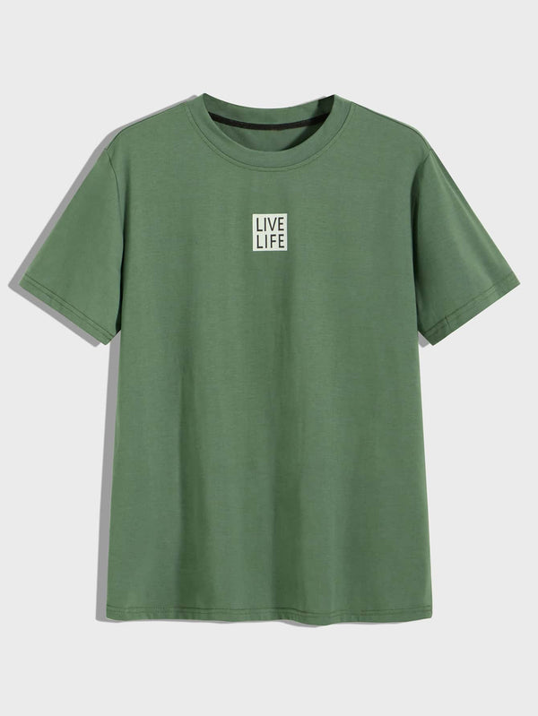 Men Letter Graphic Tee - 𝐄𝐑𝐔𝐌𝐉𝐔𝐒