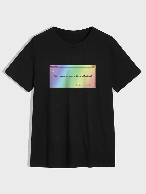 Men Slogan Graphic Short Sleeve Tee - 𝐄𝐑𝐔𝐌𝐉𝐔𝐒