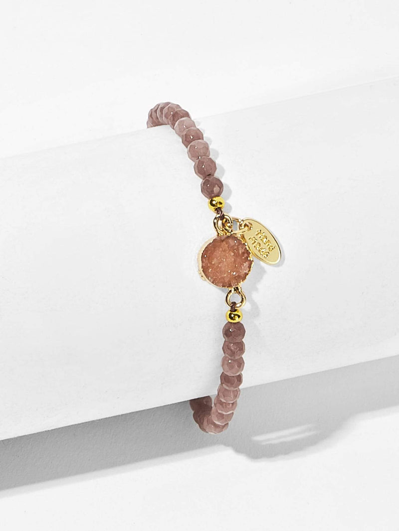 Stone Detail Beaded Bracelet 1pc - 𝐄𝐑𝐔𝐌𝐉𝐔𝐒