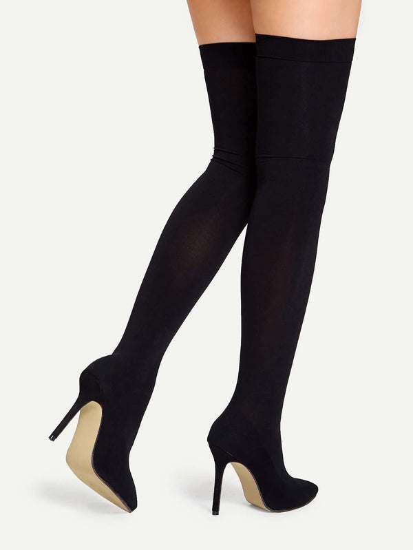 Thigh High Stiletto Sock Boots - 𝐄𝐑𝐔𝐌𝐉𝐔𝐒