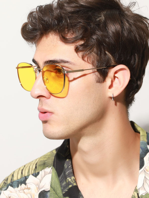 Men Metal Frame Sunglasses - 𝐄𝐑𝐔𝐌𝐉𝐔𝐒