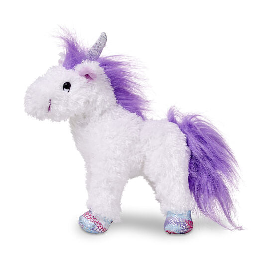Misty White Unicorn Plush Animal