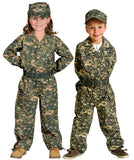Camouflage Suit with Hat and Belt