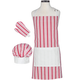Classic Striped Deluxe Youth Apron Boxed Set