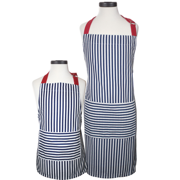 Striped Adult and Youth Apron Box Set