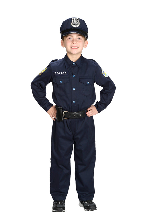 Police Officer Costume with Hat and Belt