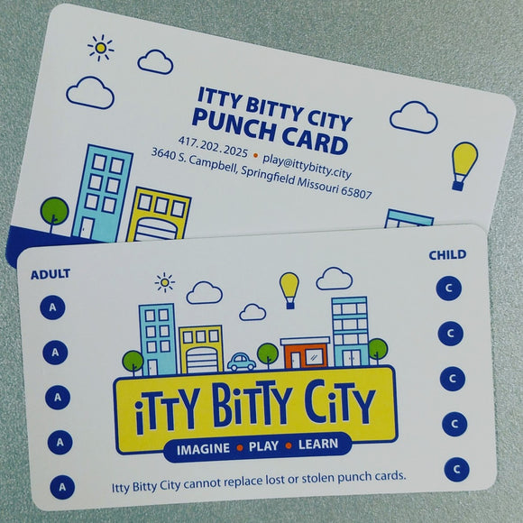 Itty Bitty City Punch Card