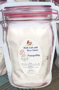 Bath Salts with Rose Petals - LTSavage Cosmetics LLC