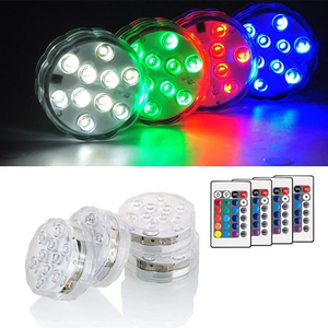 Waterproof Multi Color Submersible LED Lights-Koli mart