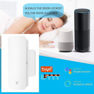 Wireless Wifi Smart Home Door Window Gap Sensor App Alarm For Alexa Google-Koli mart