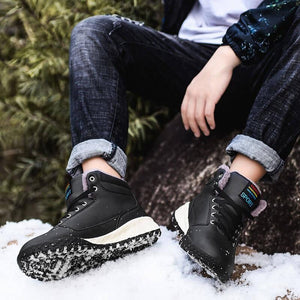 men's winter warm slip-resistant villi comfortable fashion shoes