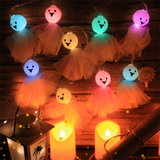 DIY Halloween Party Garden Indoor Festival Hanging Lantern 2.5m 10LEDS Home Decoration Holiday Bedroom Light String Skeleton-Koli mart