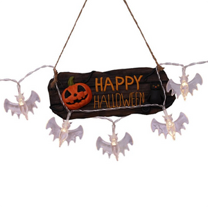 Halloween 10/20/30LED Fairy Bat Solar String Lights 3D Bats Horrible Lights For Halloween Christmas Party Outdoor Decorations-Koli mart