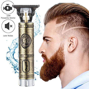 2020 New Cordless Zero Gapped Trimmer Hair Clipper USB Rechargeable T9 Bald headed Hair Clipper