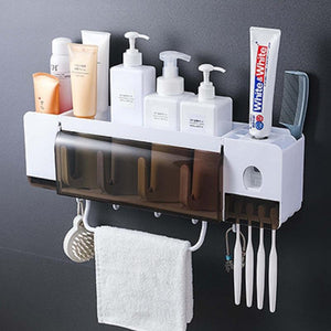 Toothbrush Holder Set & Automatic Toothpaste Squeezing Device-A Goods That Bathroom Must Prepare👍-Koli mart