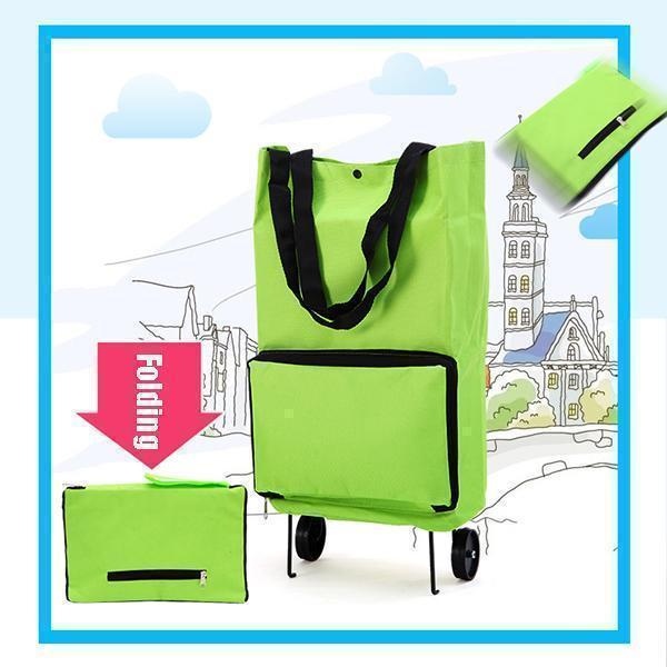 2 In 1 Foldable Shopping Cart-Koli mart