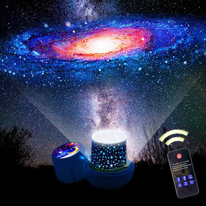 Bluetooth LED Starry Night Sky Projector Lamp Star Light Cosmos Master Kids Gift-Koli mart