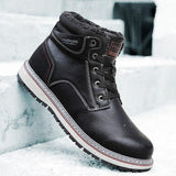 Winter Leather Warm Ankle Boots