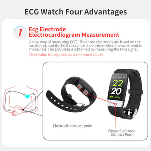 Smart Body Temperature and ECG Monitoring Watch-Koli mart