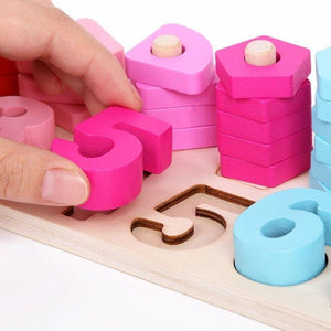 Wooden Montessori Toys - Counting Board