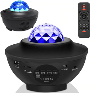 USB LED Star Night Light Music Starry Water Wave LED Projector Light Bluetooth Projector Sound-Activated