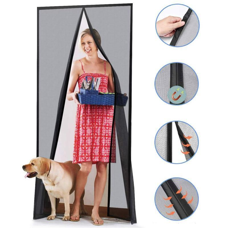 Magnetic Screen Door Mesh Bug Curtain-Koli mart