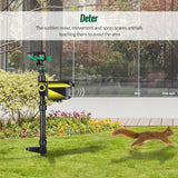 Solar Powered Animal Repellents Water Sprayer - Animal Deterrent