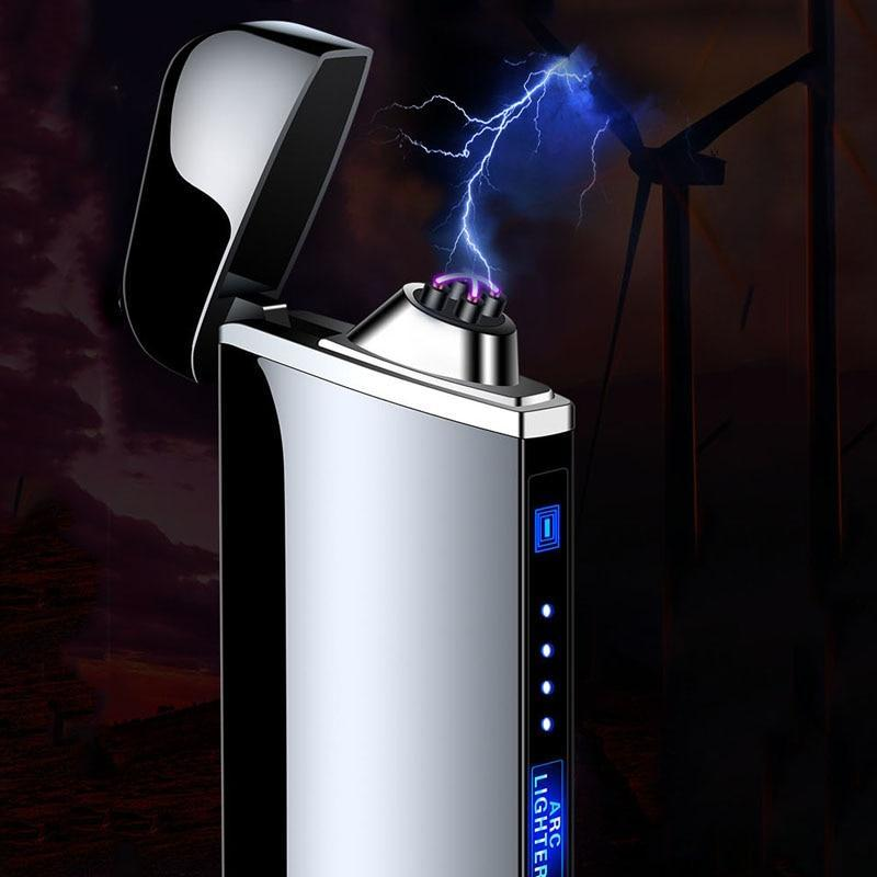 Electric Lighter With Plasma Arc Effect and Touch Sensing Lighting