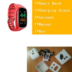 SMART WATCH WITH BLUETOOTH EARPHONE-Koli mart