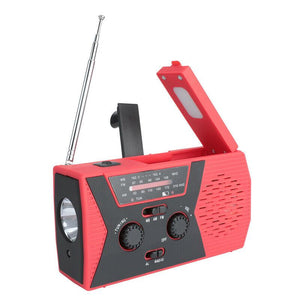 Emergency Radio Solar Hand Crank with Weather AM/FM LED Flashlight SOS-Koli mart
