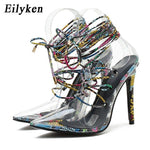 Load image into Gallery viewer, Snake grain Transparent Heels - monaveli -  - eprolo Snake grain Transparent Heels - mymonaveli.com